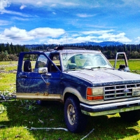 4X4 adventure at Mendocino National Forest in the Bronco II