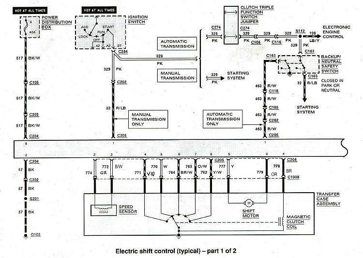 Diagram_ElectronicShiftControl1 converting your bronco ii from 2wd to 4wd overview bronco ii  at eliteediting.co