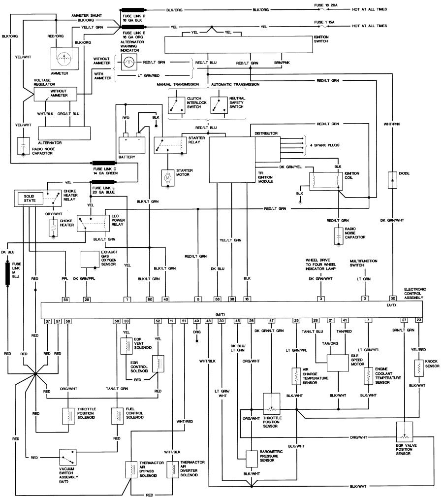 1993 ford ranger fuel system diagram