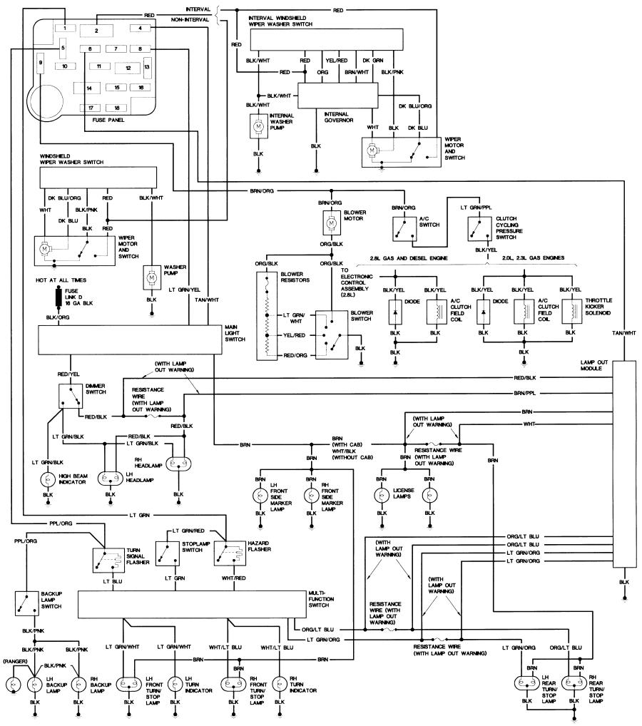 84_B2_body bronco ii wiring diagrams bronco ii corral 1989 ford f250 radio wiring diagram at bayanpartner.co
