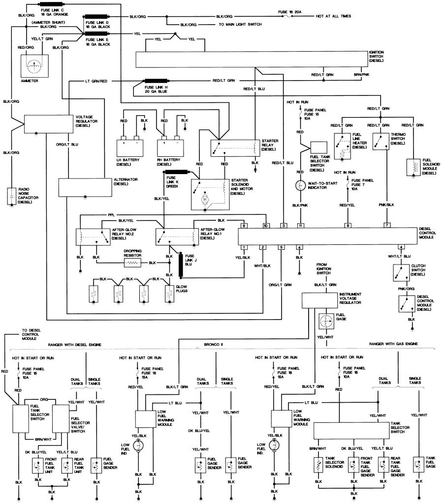 84_B2_diesel bronco ii wiring diagrams bronco ii corral A C Compressor Wiring Diagram at edmiracle.co