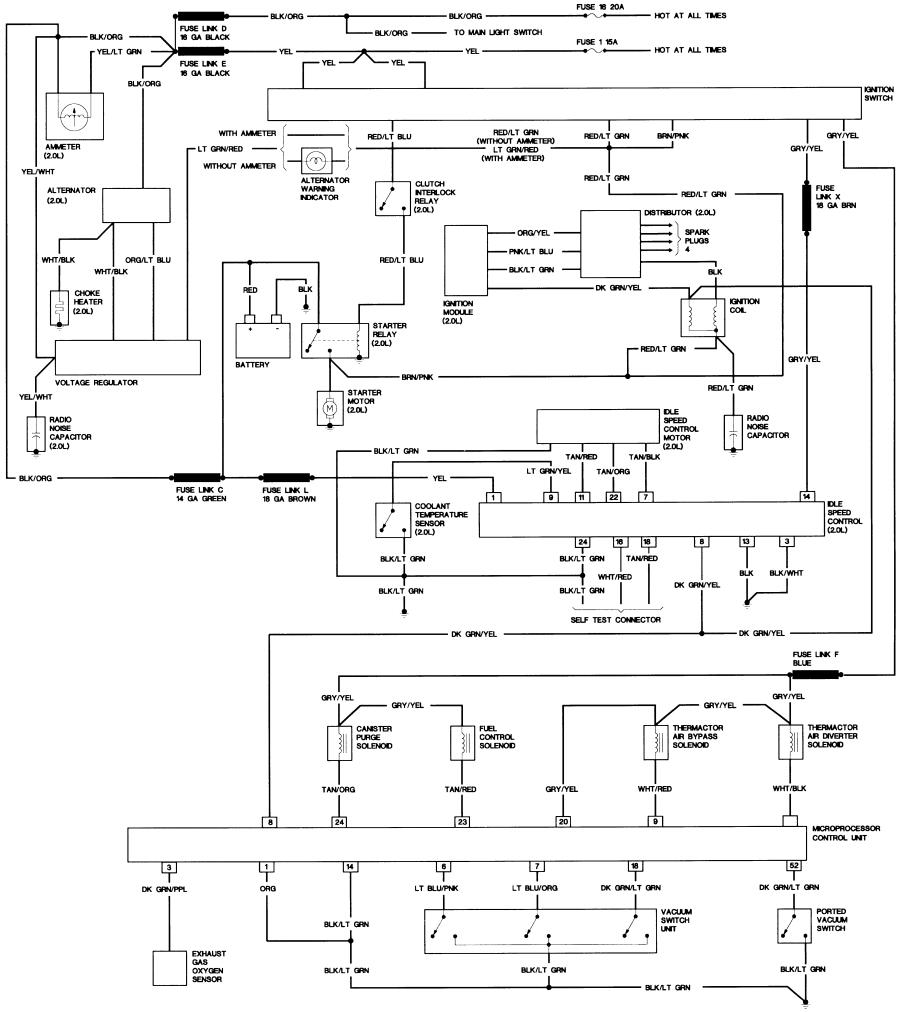 1989 ford bronco wiring diagram wiring diagram and schematics ford diagrams source · 1985 2 0l 2 3l w o eec engine wiring diagram