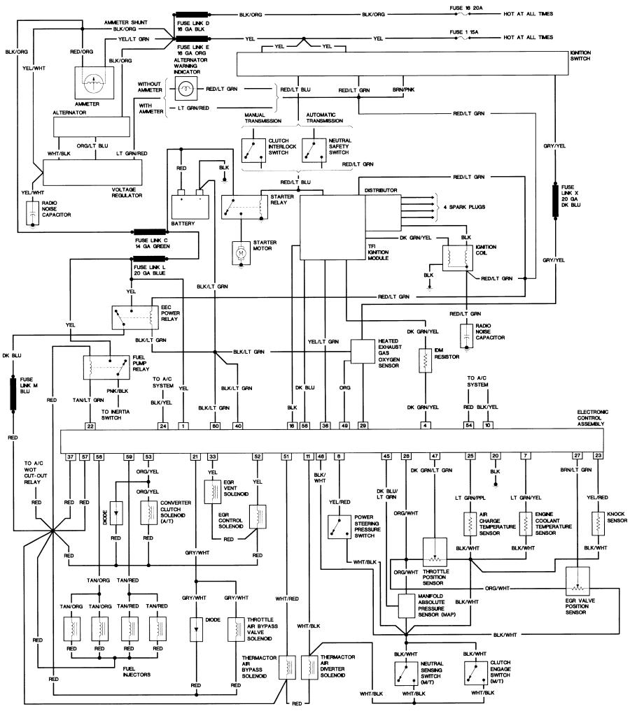 1987 ford alternator wiring wiring diagrams