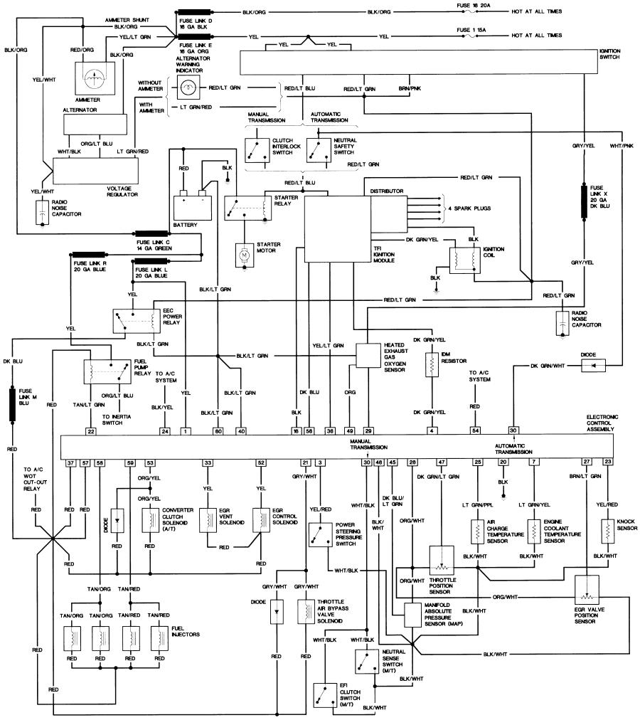 85_B2_23 bronco ii wiring diagrams bronco ii corral Basic Electrical Wiring Diagrams at gsmportal.co
