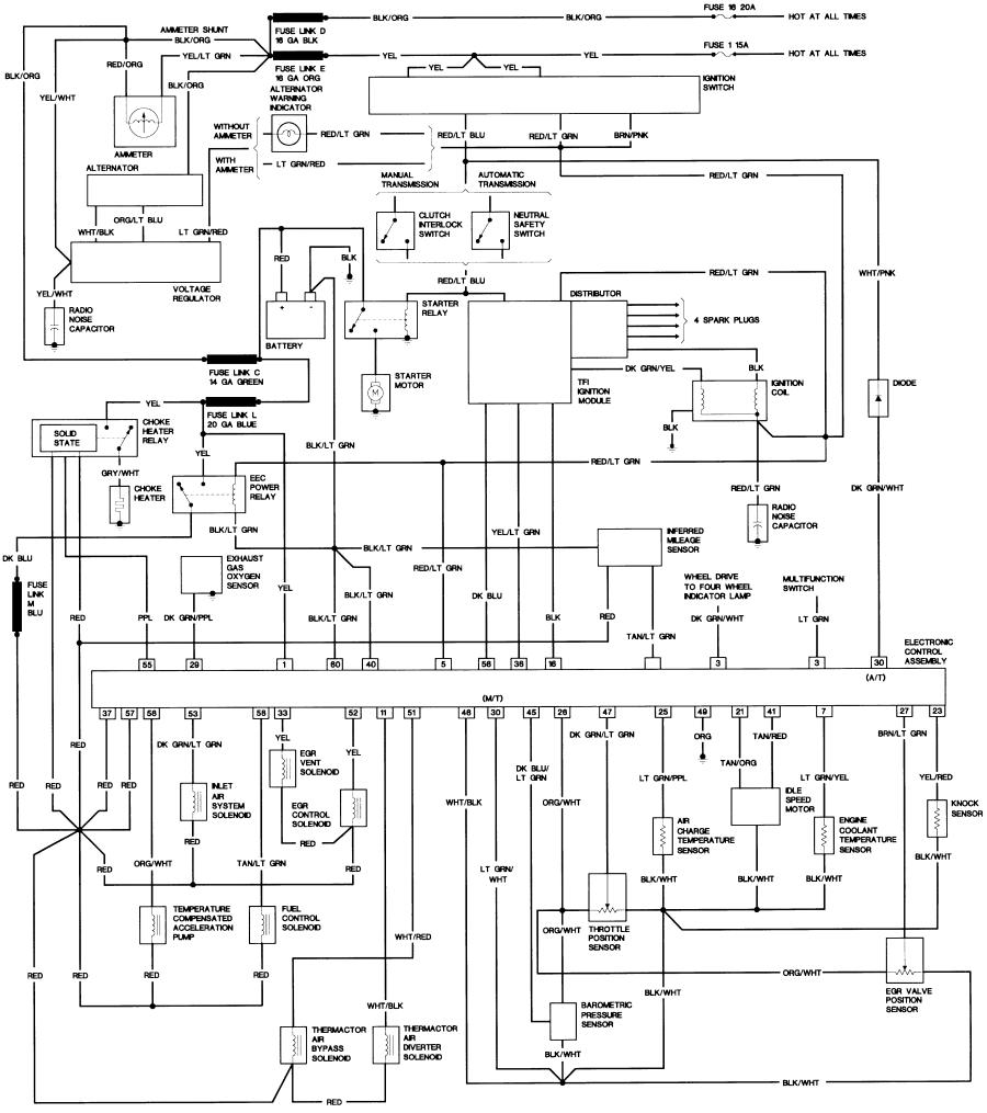 84 F250 Wiring Diagram Will Be A Thing Bronco Ii Diagrams Corral Rh Broncoiicorral Com Ford