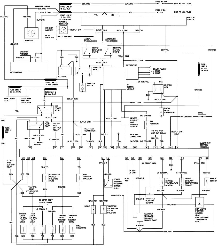 86_B2_29 1988 ford ranger starter wiring diagram 1988 wiring diagrams,72 Vw Regulator Wiring Diagram