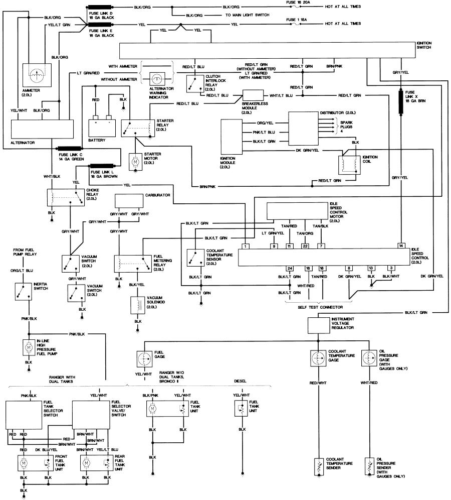 Bronco Ii Wiring Diagrams Corral. 1987 20l Engine Wiring Diagram. Ford. Ford 2 9 Efi Wiring Diagram At Scoala.co