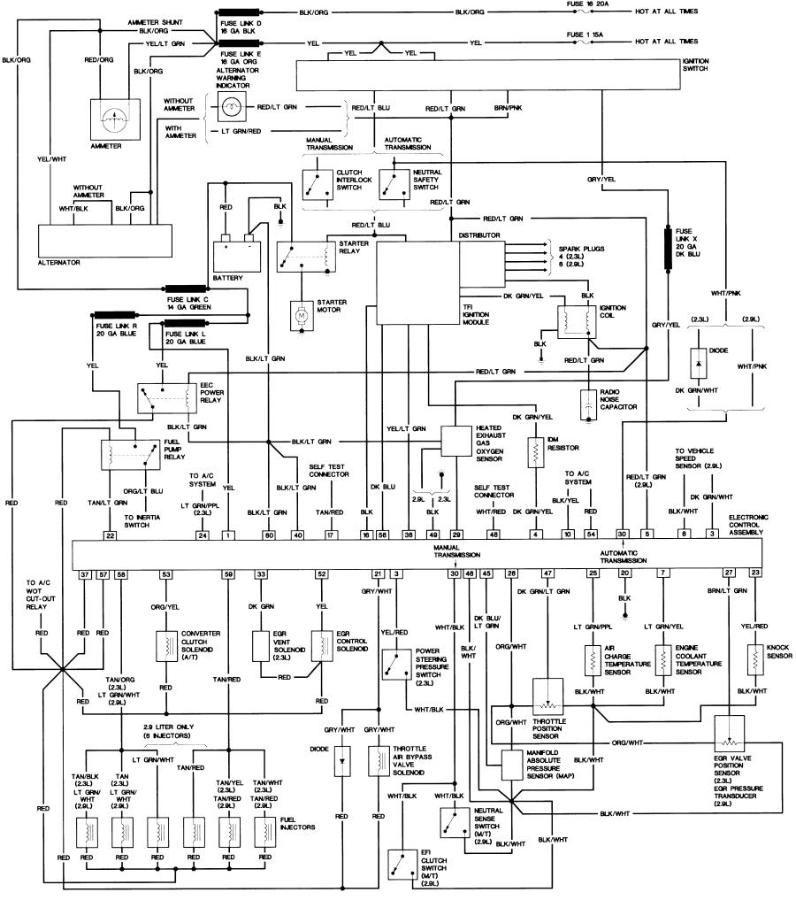 87_B2_23_29 87 ranger wiring diagram 1991 ford ranger wiring diagram \u2022 wiring 1991 ford explorer stereo wiring harness at panicattacktreatment.co
