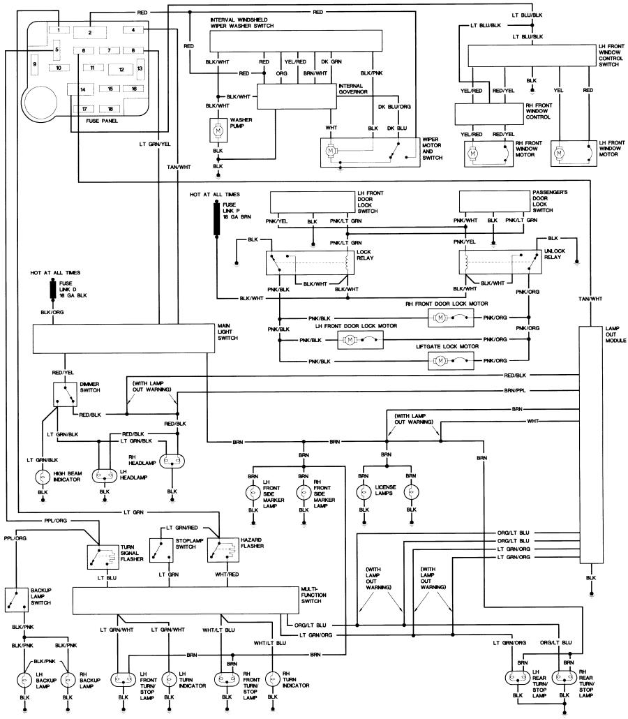 87_B2_body bronco ii wiring diagrams bronco ii corral 1986 mustang wiring diagram at gsmx.co