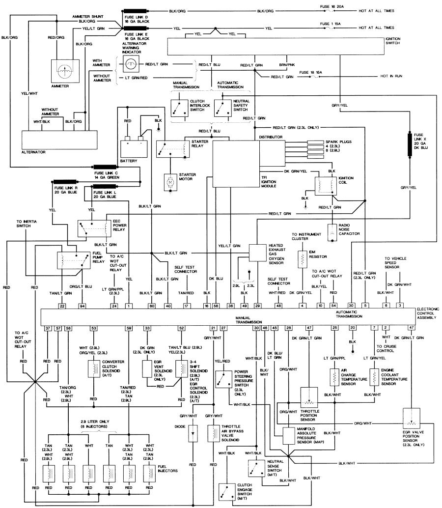 1988 2 3l & 2 9l engine wiring diagram (