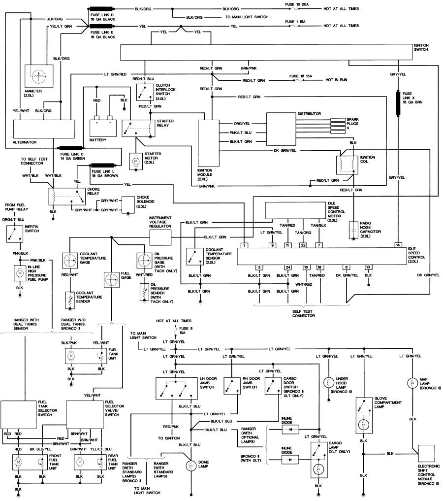 1994 bronco starter wiring electrical drawing wiring diagram \u2022 honda 2 wiring diagram bronco ii wiring diagrams bronco ii corral rh broncoiicorral com 85 bronco wiring diagram wiring diagram 1985 bronco 2