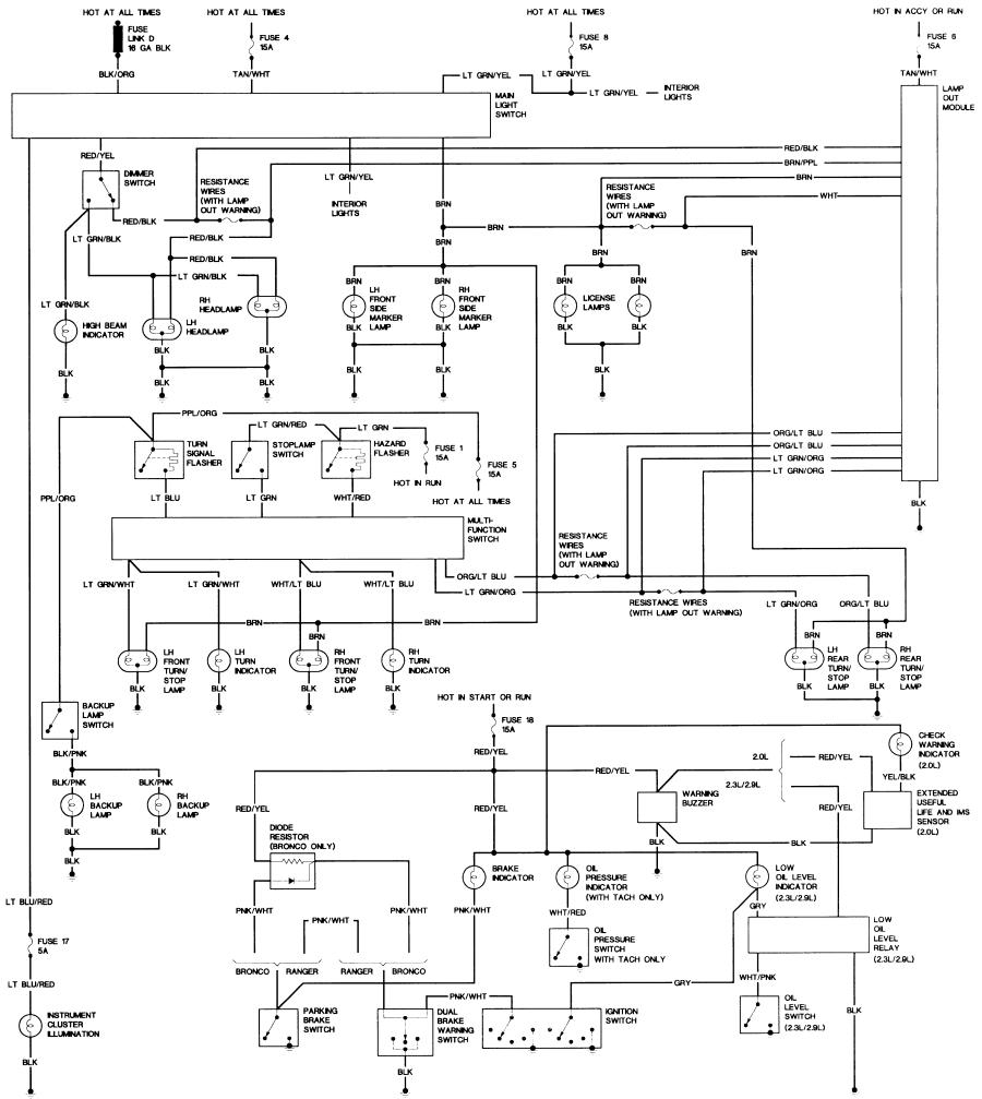 1994 Ford Ranger ke Wiring Schematic - Wiring Diagram ... Ranger Wiring Diagram Chime on