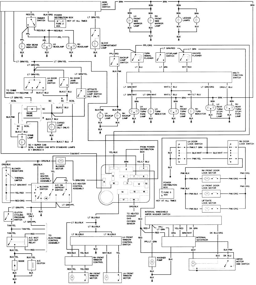 89_B2_body diagrams 20001352 early bronco wiring diagram bronco technical 1989 ford bronco wiring diagram at soozxer.org
