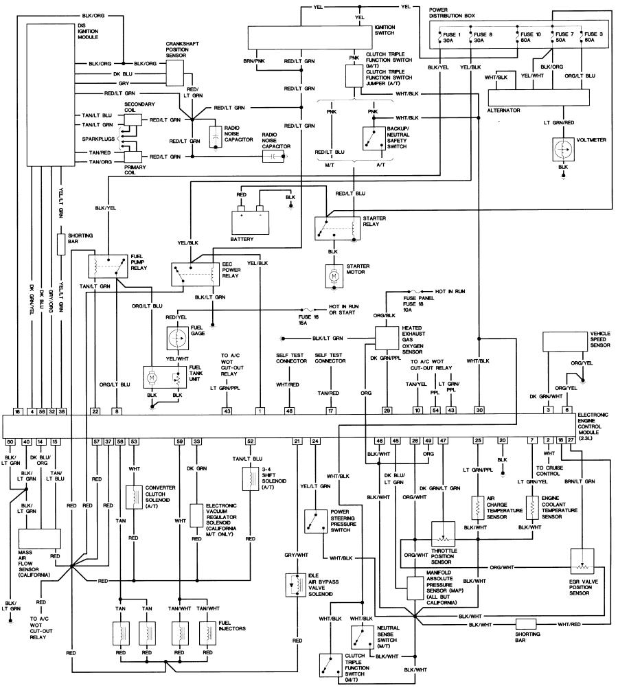 1990 ford wiring diagram