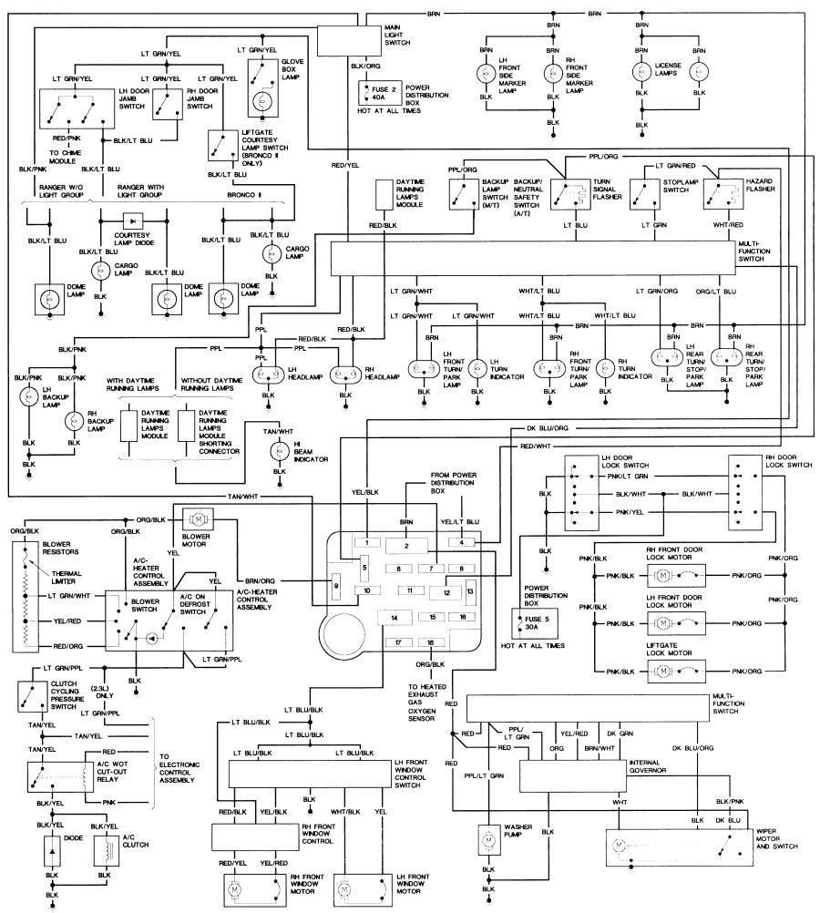 Wiring Diagram Ford Bronco Ii Harness Schematics 88 F600 Diagrams Corral Rh Broncoiicorral Com 1988 Radio