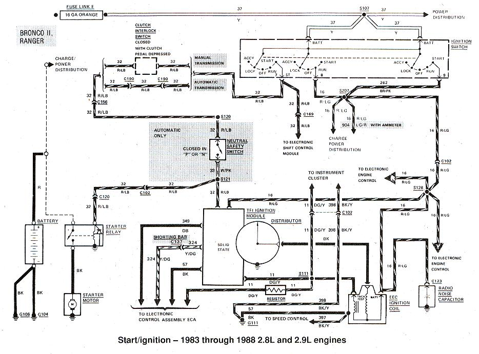 Diagrams_StartIgnition83to882_9 1975 ford f250 wiring diagram ford wiring diagrams for diy car Ford 3 Wire Alternator Diagram at bayanpartner.co