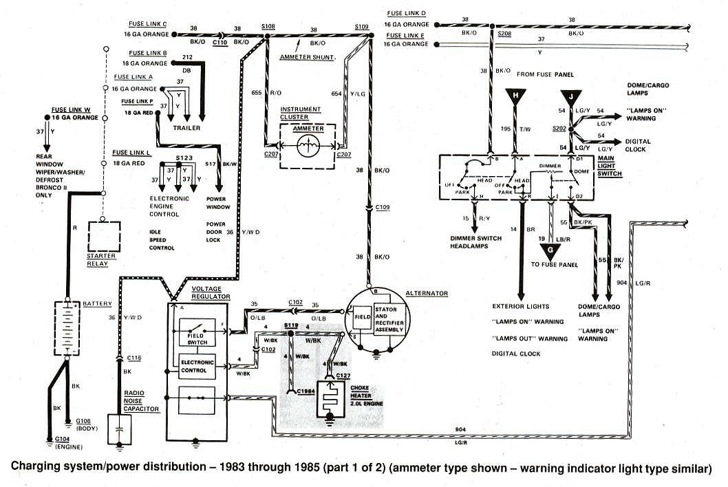 diagram_charging_1983 to 1985 bronco ii wiring diagrams bronco ii corral 1985 ford radio wiring diagram at reclaimingppi.co