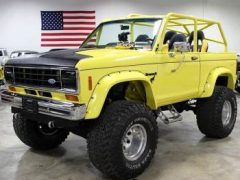 1984 Ford Bronco II Yellow Chop Top