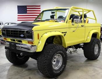 1984 Ford Bronco II Yellow Chop Top