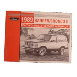 1989 Bronco II Do-It-Yourself Service Manual