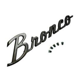 Black Bronco Emblem