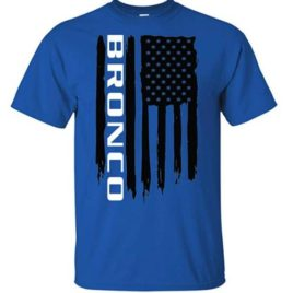 Bronco American Flag T-Shirt