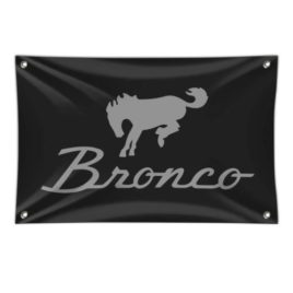 Ford Bronco Chrome Logo Banner
