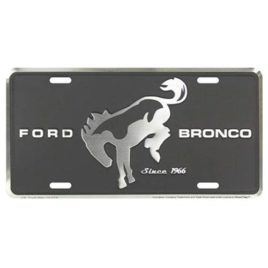 Ford Bronco Metal License Plate 6×12 with Black Background