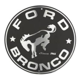 Ford Bronco 12-Inch Round Nostalgia Sign