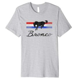 Ford Bronco Logo Stripes Premium T-Shirt