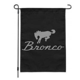 Ford Bronco Chrome Logo Garden Yard Flag