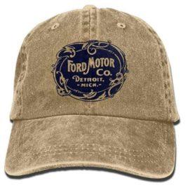 Ford Motor Company Detroit Retro Denim Cap