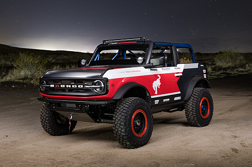 Built Wild Off-Road Racing Ford Bronco 4600 Race Vehicle