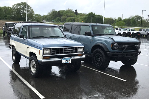 2021 Ford Bronco vs 1988 Ford Bronco II
