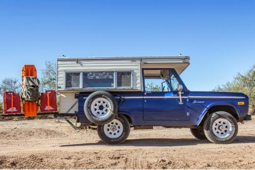 1967 Ford Bronco With A Four Wheel Camper